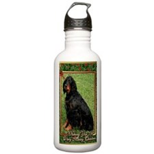 Gordon Setter Dog Chri Water Bottle