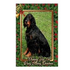 Gordon Setter Dog Christm Postcards (Package of 8)
