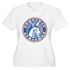 Democrat Donkey Plus Size V-Neck T-Shirt