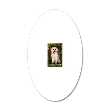 Great Pyrenees Christmas 20x12 Oval Wall Decal