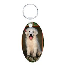 Great Pyrenees Christmas Keychains