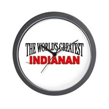 """The World's Greatest Indianan"" Wall Clock"