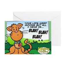 BLAH! BLAH! BLAH! Greeting Card