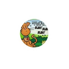 BLAH! BLAH! BLAH! Mini Button