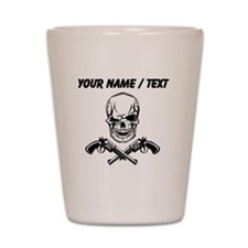Custom Skull With Guns Shot Glass