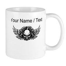 Custom Skull With Wings Mugs