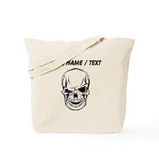 Custom Winking Skull Tote Bag