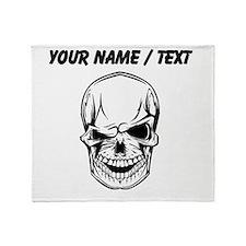 Custom Winking Skull Throw Blanket