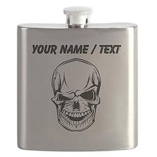 Custom Winking Skull Flask