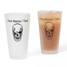Custom Winking Skull Drinking Glass