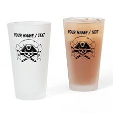 Custom Pirate Skull Drinking Glass