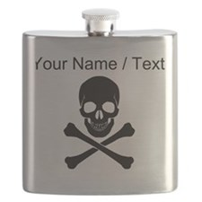 Custom Skull And Crossbones Flask