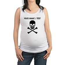 Custom Skull And Crossbones Maternity Tank Top