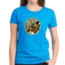 Fantasy Figure on a Woman's T-Shirt
