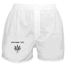 Custom Weed Leaf Skull Boxer Shorts