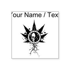 Custom Weed Leaf Skull Sticker