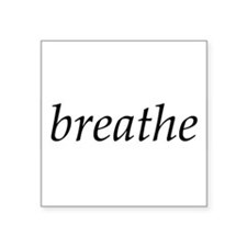 breathe - Oval Sticker