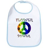 Flower Power Baby! Bib