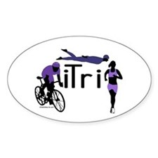 iTri Oval Decal