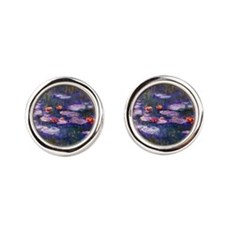 Monet Blue Waterlilies Cufflinks