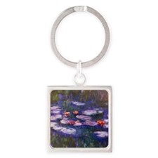 Monet Blue Waterlilies Keychains