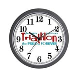 Triathlon - The Pride is Forever Wall Clock