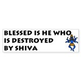 BLESSED SHIVA Bumper Bumper Sticker