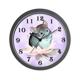 Chin Lily Purple Wall Clock