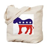 Democrat Donkey v4 Tote Bag