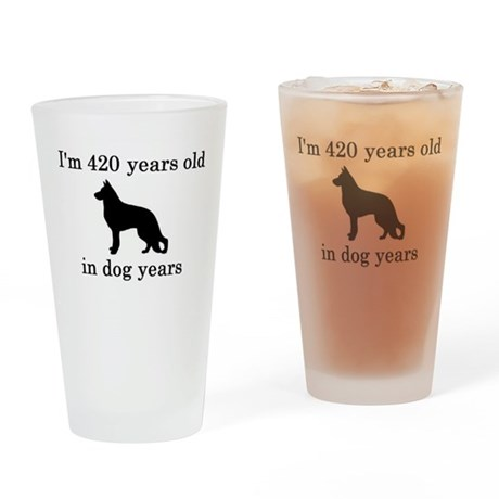 60 birthday dog years german shepherd black Drinki