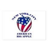 America's Big Apple Postcards (Package of 8)