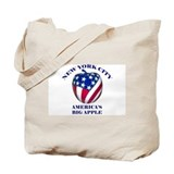 America's Big Apple Tote Bag