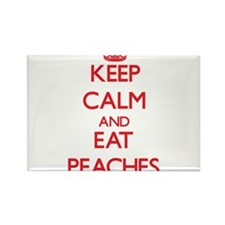 Keep calm and eat Peaches Magnets