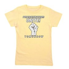 Procrastinators Unite Tomorrow Funny Girl's Tee