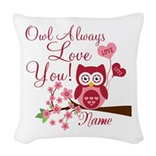 Owl Always Love You Woven Throw Pillow