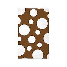 Brown Irregular Polka Dot 3'X5' Area Rug