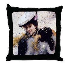 Vintage Winter Bride Throw Pillow
