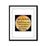 Sands of the World: Faith Framed Panel Print