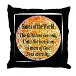 Sands of the World: Faith Throw Pillow
