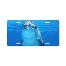 Dolphin 001 Aluminum License Plate