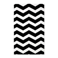 Black And White Chevron 3'X5' Area Rug