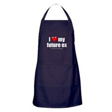 """Love My Future Ex"" Apron (dark)"