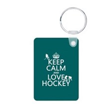 Keep Calm and Love Hockey Keychains