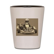 Kart Racer Sepia Shot Glass