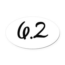 10k (6.2 miles) Oval Car Magnet