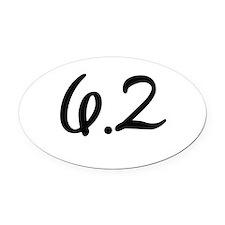 10k (6.2 miles) Oval Car Magnet
