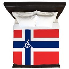 Team Curling Norway King Duvet