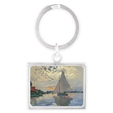 Monet Sailboat French Impressionist Keychains