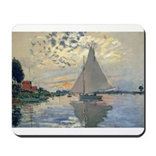 Monet Sailboat French Impressionist Mousepad