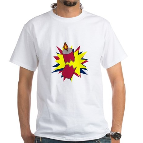 Firecracker White T-Shirt